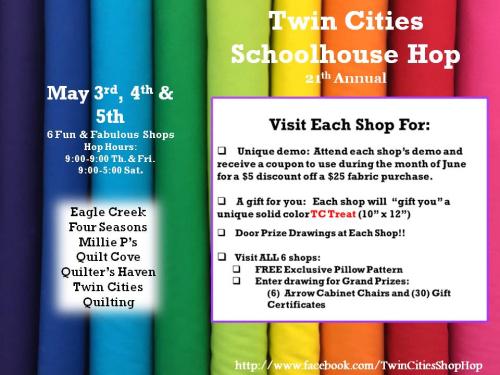 Twin cities shop hop poster 2018