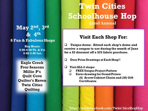 Twin cities shop hop poster 2019