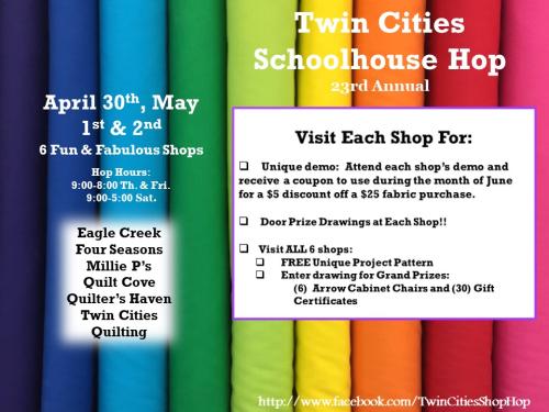 Twin cities shop hop poster 2020